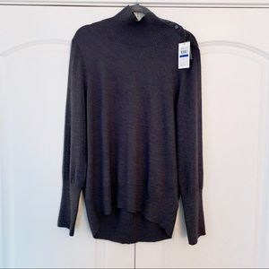 Calvin Klein Jeans High Neck Gray Sweater